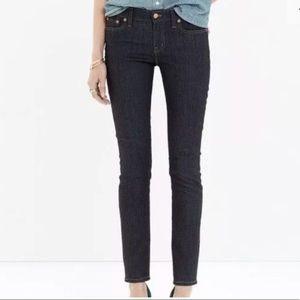 Madewell Sz 24 Alley Straight Dark Wash Blue Jean